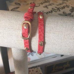 Sells & Dot Hudson Red Leather Wrap Bracelet